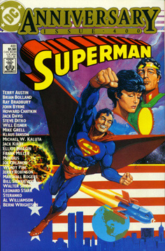 Superman #400 cover by Howard Chaykin